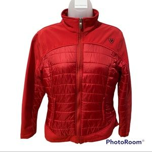 Ariat Quilted Red Jacket Size M